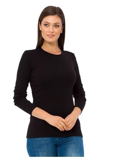 LC Waikiki Uzun Kollu Bluz Siyah